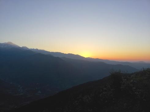 Annapurna, sunrise, Ghalegaon, Lamjung, Nepal, Gurung village, Lamjung Himal